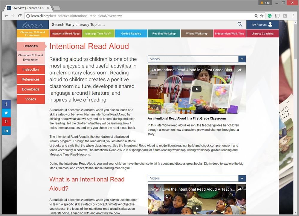 LEARN - Best Practices in Early Literacy