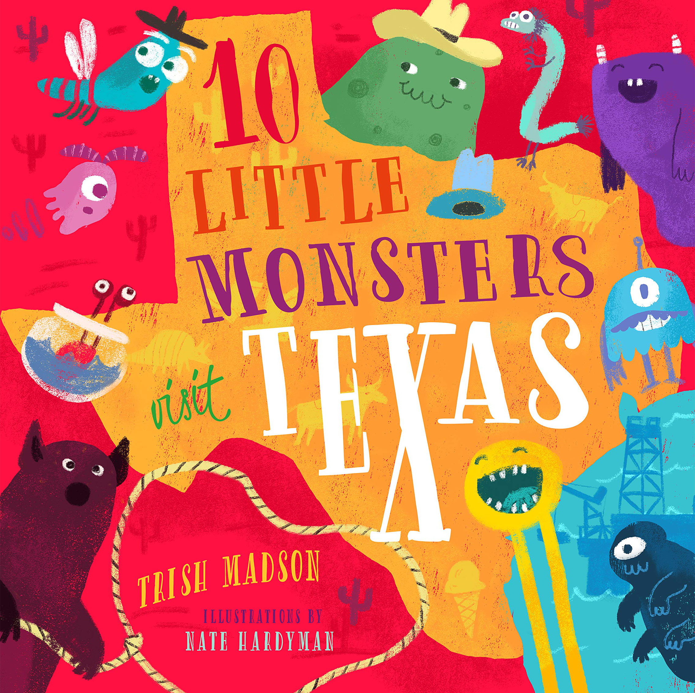 Ten Little Monsters Visit Texas